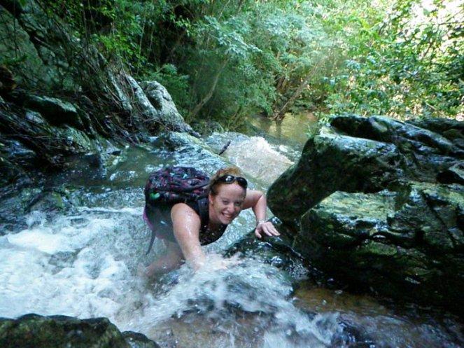 climbing waterfalls