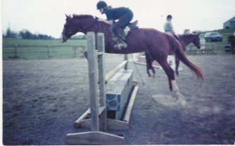 Jumping with My Quarter Horse